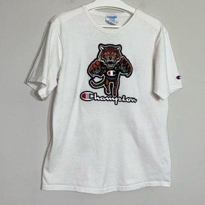 Champion Mascot Embroidered Tiger Tee M